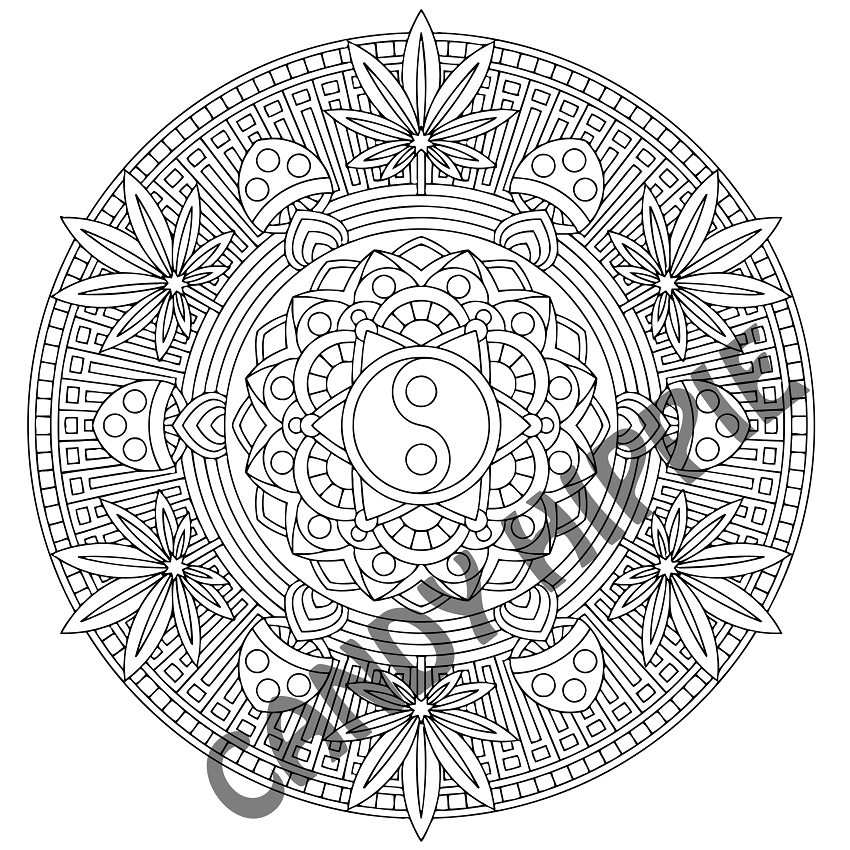 Free Mandala Coloring Page The Basis Of Nature By Candy Hippie