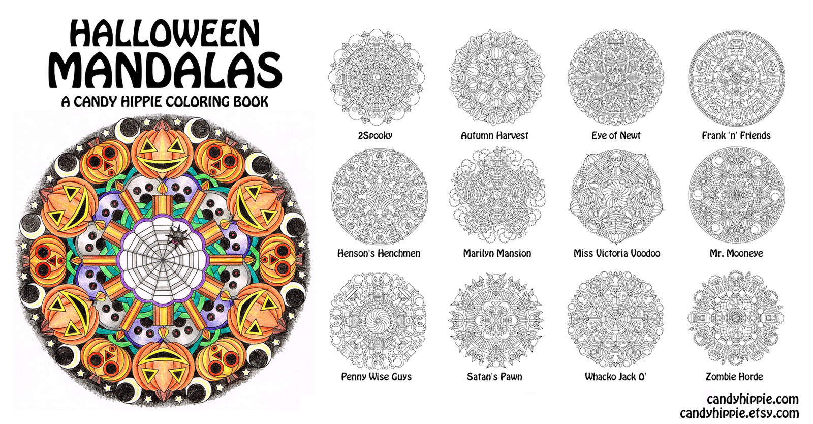 Halloween Mandalas adult coloring book by candyhippie on DeviantArt