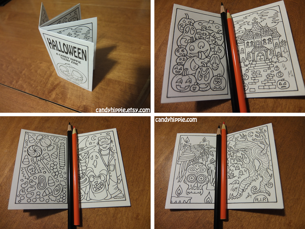 Halloween Teeny Zine: all-ages mini coloring book by candy-hippie on ...