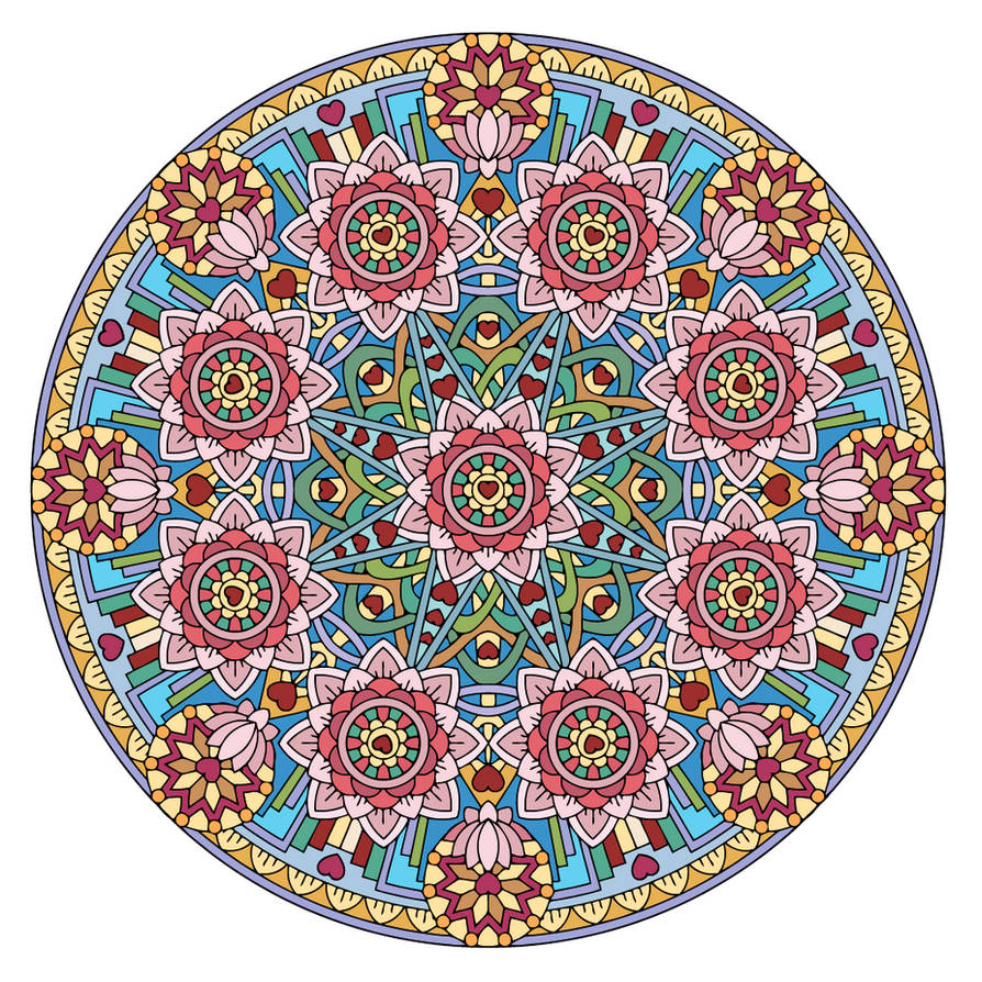Equanimity Mandala (Colored)