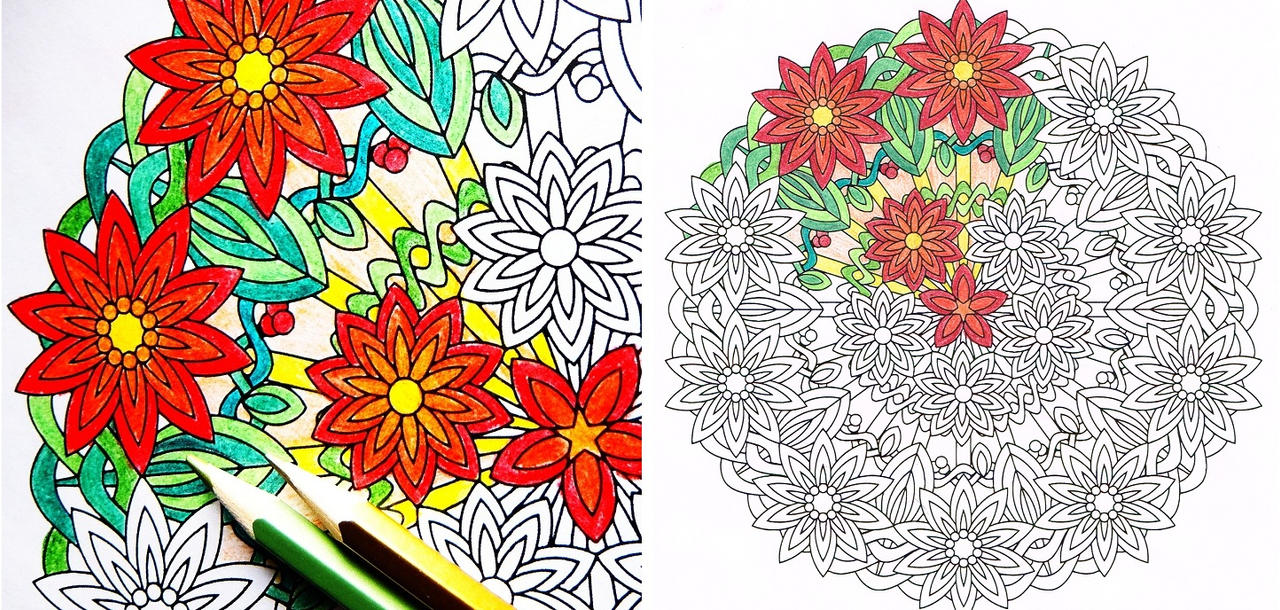 Flower Burst Mandala Coloring Page By Candy Hippie