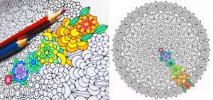 Core of Life flower coloring mandala