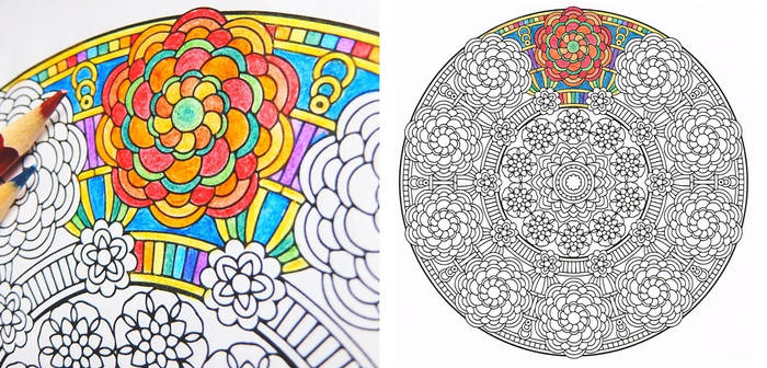crown of gaia flower coloring page pdf by candy hippie dc6ydmr 350t