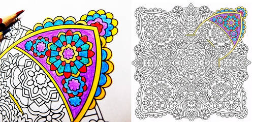 Lily of Kings complex mandala coloring page