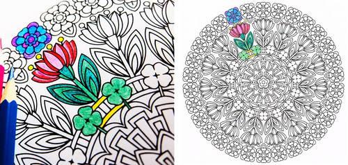 Spring Renewal - spring coloring page