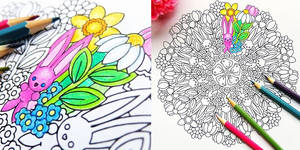 Spring Has Sprung - spring coloring page