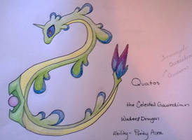 Fakemon Design Challenge - Day 1- Quatos by Shikigami-chan