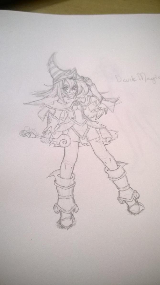 Dark Magician Girl WIP by Shikigami-chan