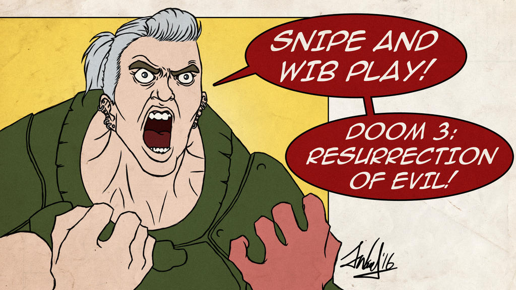 Snipe and Wib Play: Doom: R.O.E Title Card by SnipeTheSorrow