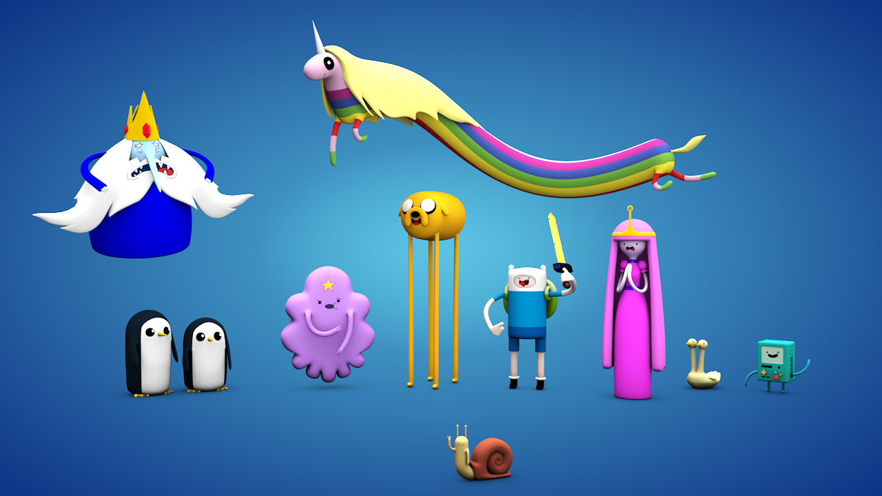 Adventure Time 3D characters design
