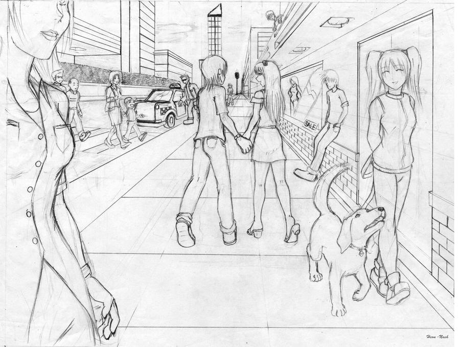 People and the City Sketch by HeonGaiden