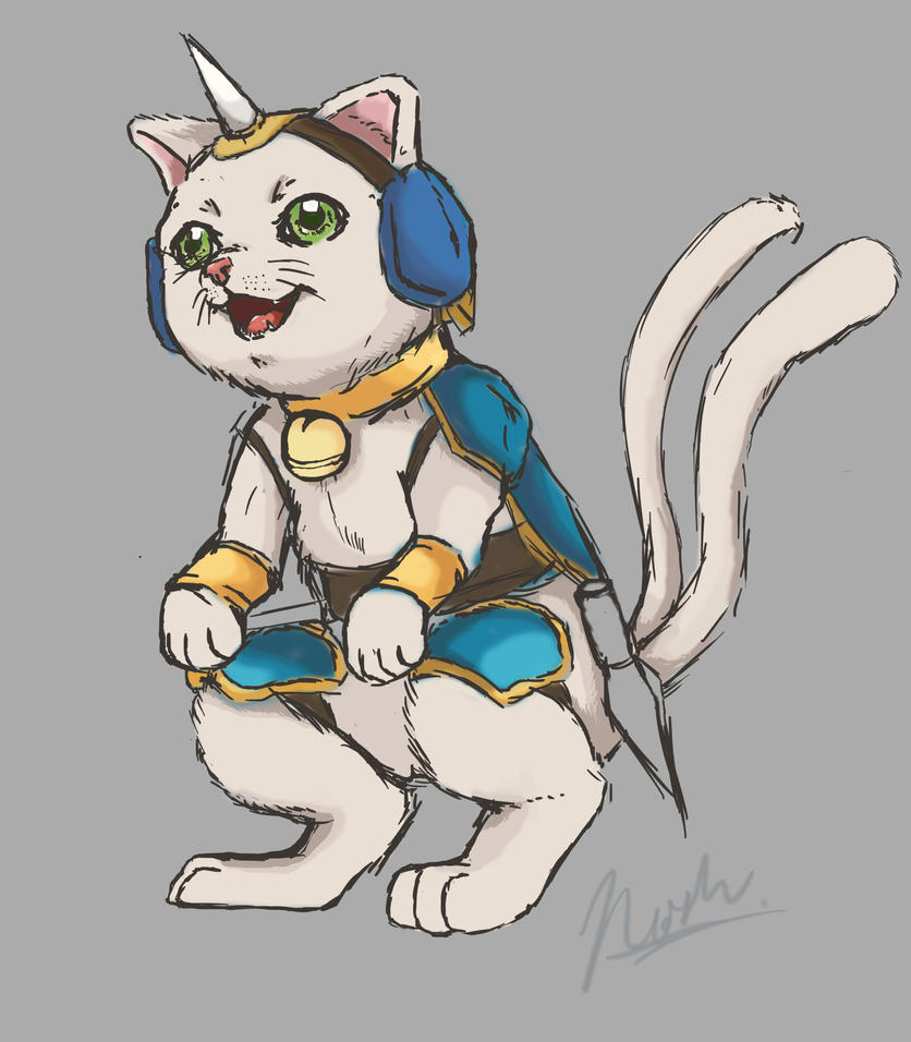That Cat with an Armor by HeonGaiden