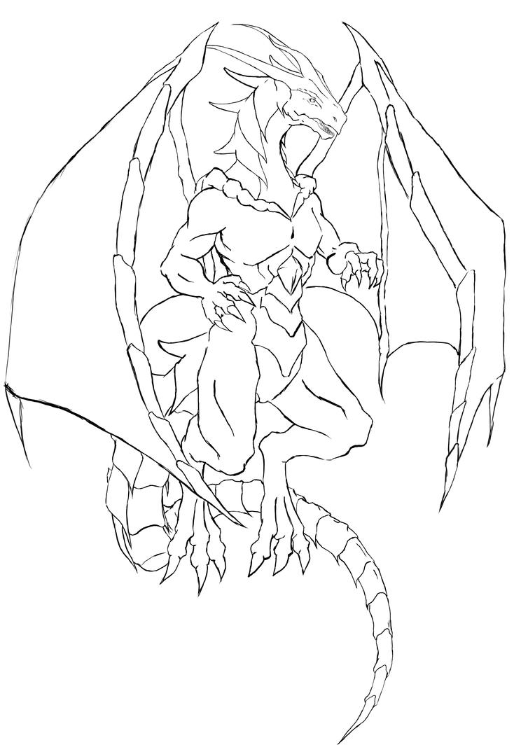 dragon outline by heongaiden - Dragon Outline