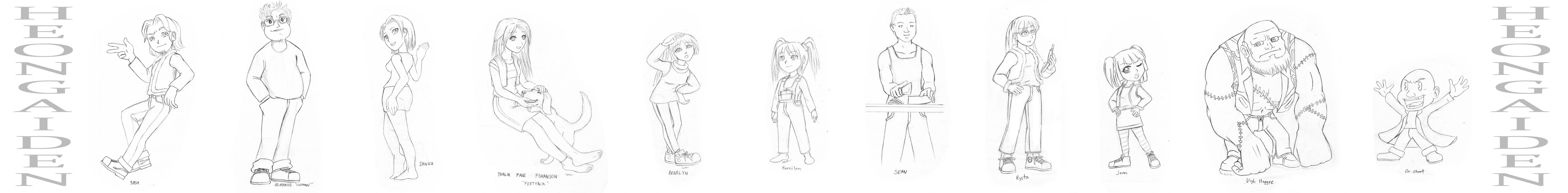 Random Cartoon Characters I by HeonGaiden