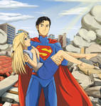 Superman Rescues an Anime Girl