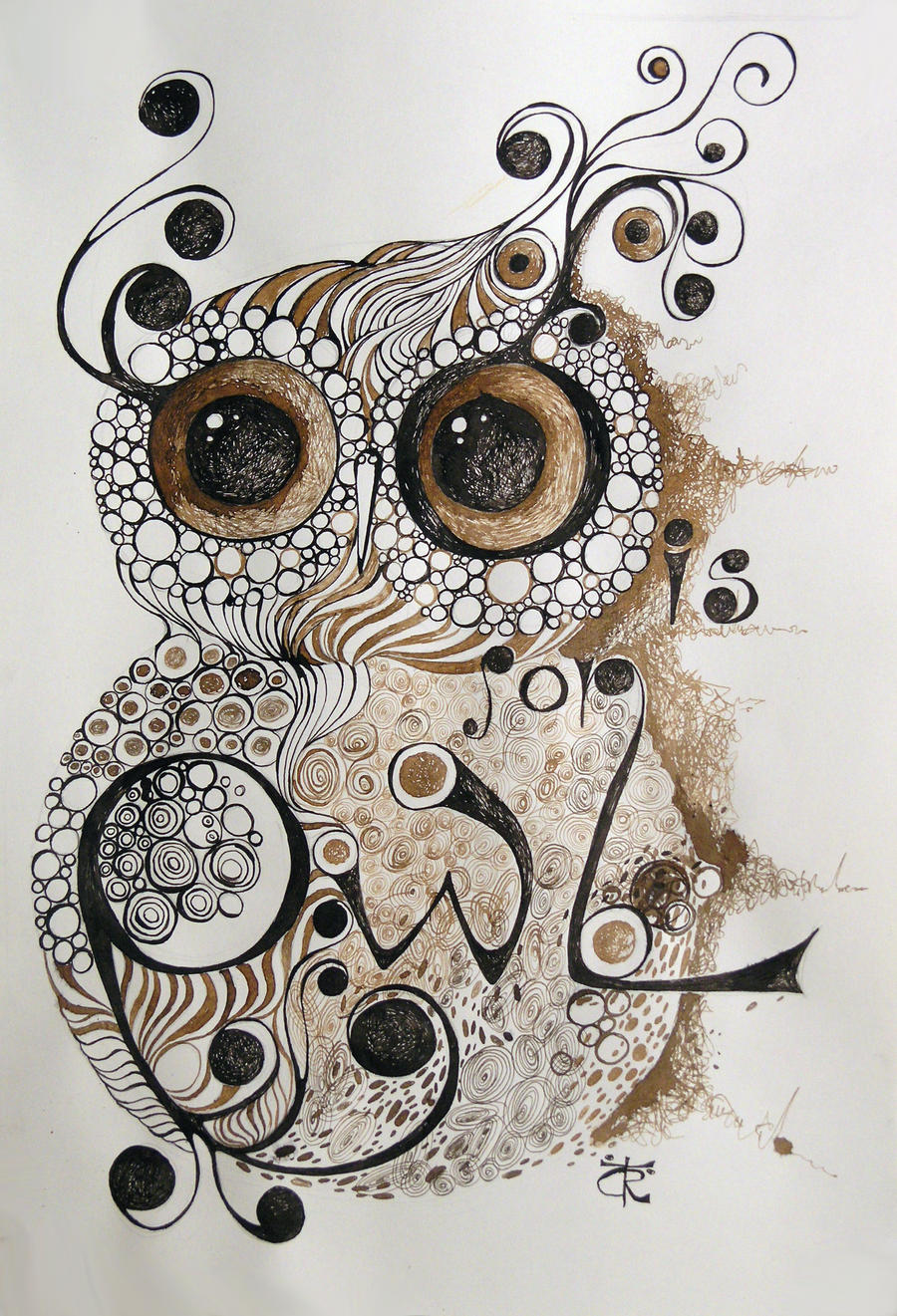 My sweet owl by ralu77 on deviantart for Cool drawings of owls