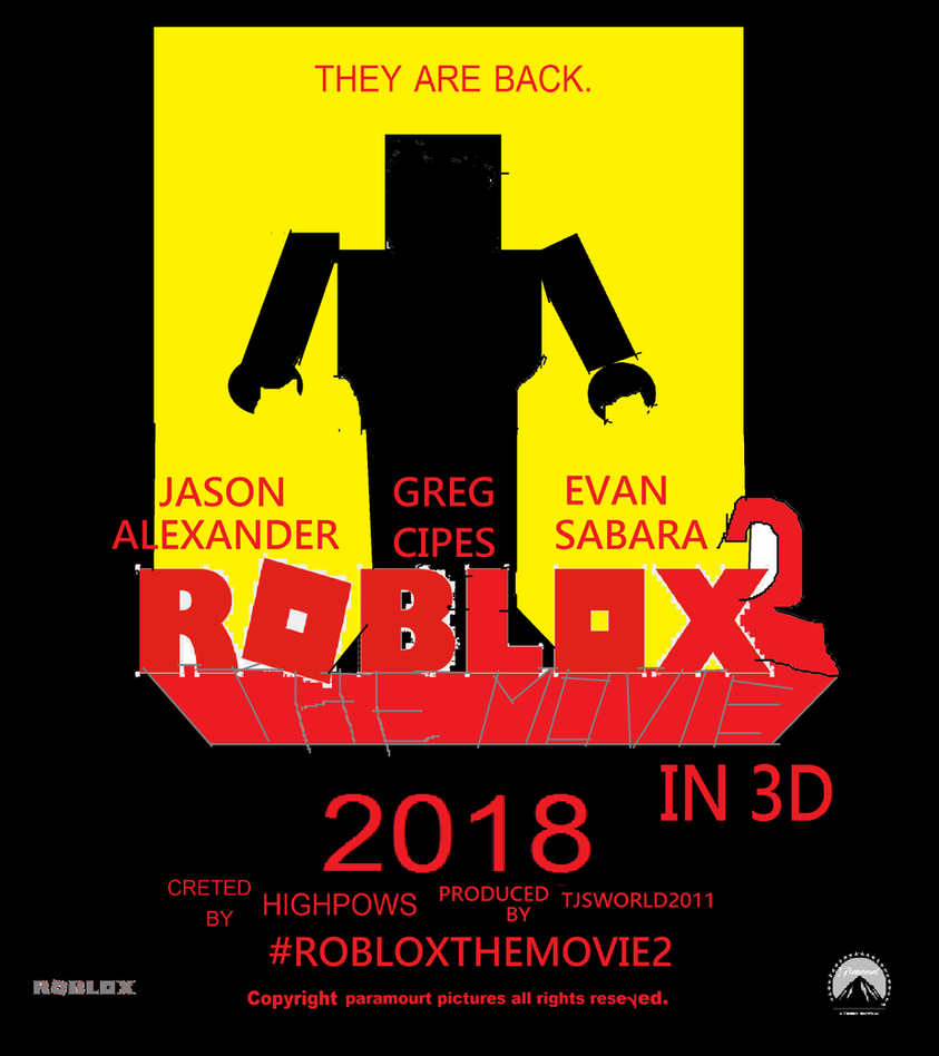 Roblox The Movie 2 (2018) poster by Highpows