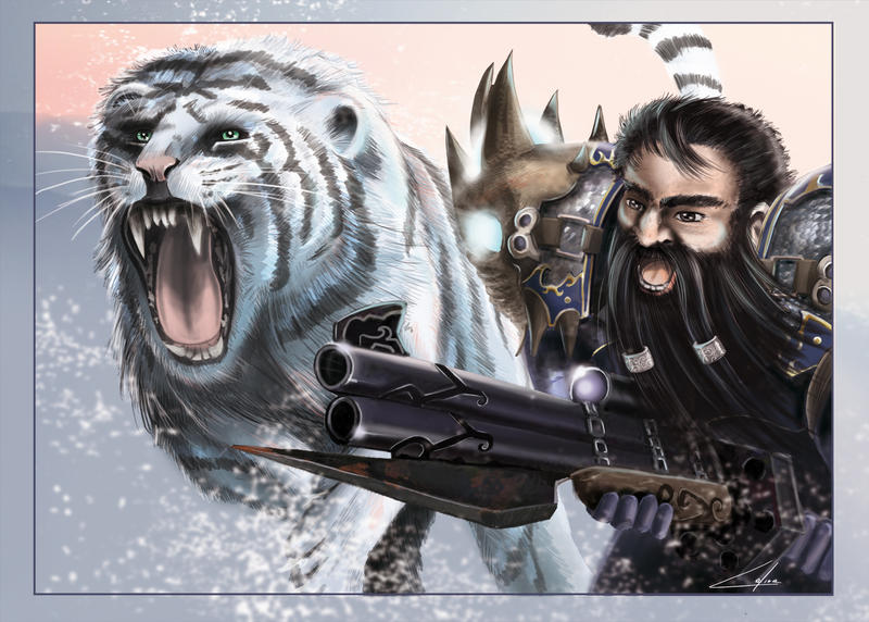 hunter dwarf by CelineSIMONI