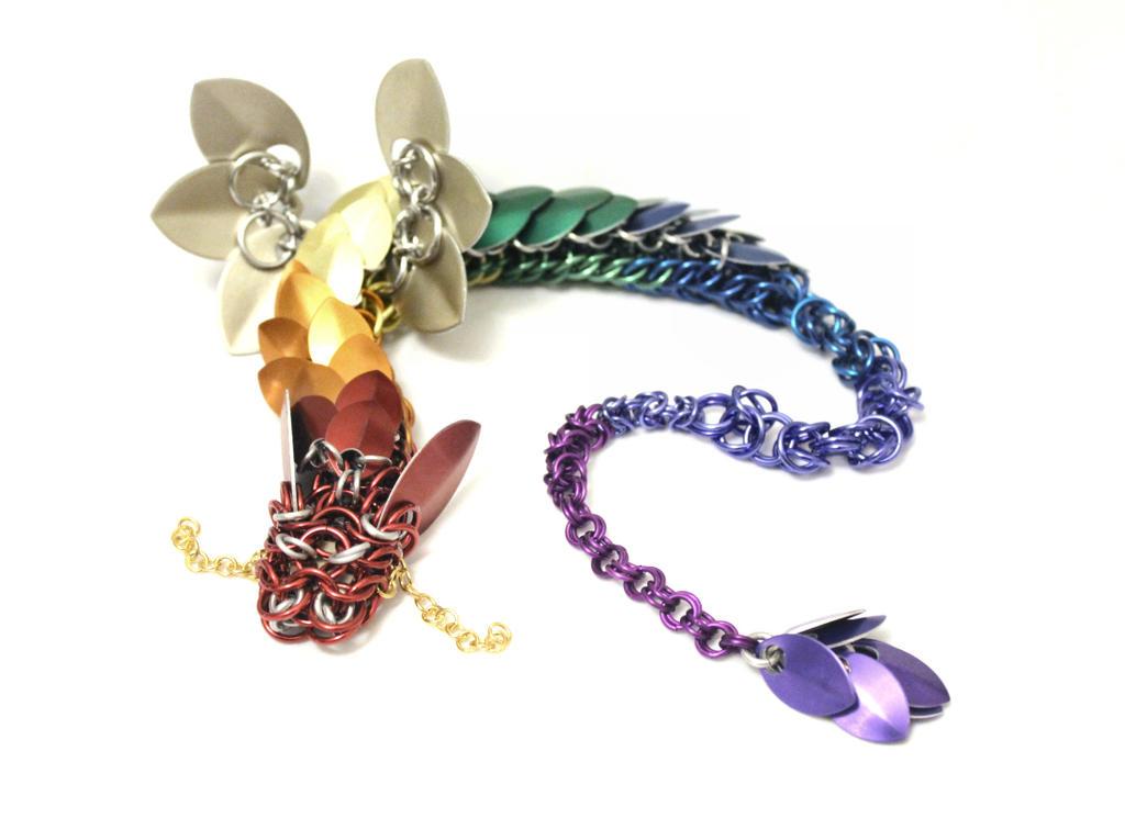 Rainbow Winged Dragon - 18 Inch by SerenFey