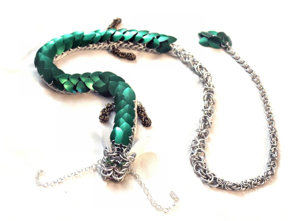 Spirited Away Haku Chainmaille Dragon By Silverhauntarmoury On Deviantart
