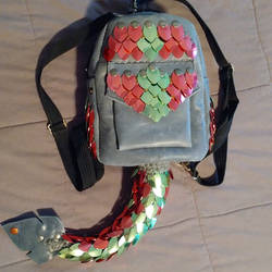 Dragonscale Leather Purse/Backpack by SilverHauntArmoury
