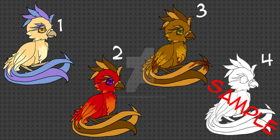 Baby Phoenix Adoptables- Set 2 [OPEN] by HigginstheAwesome
