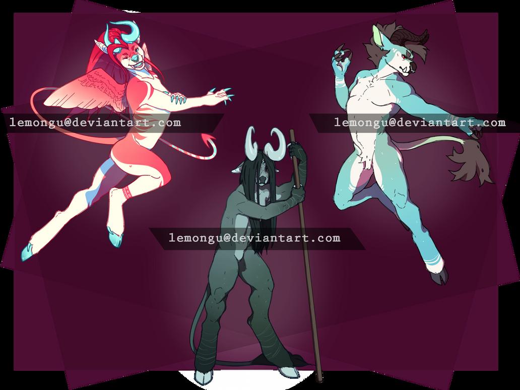 Trio of Bitaurs - CHEAPENED by Lemongu