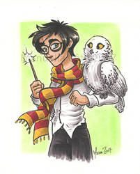 Harry and Hedwig by ManueC