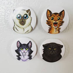 Cats magnets by ManueC