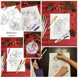 Digital coloring book by ManueC