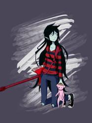 Marceline (adventure time ) Fanart by Kur0hz