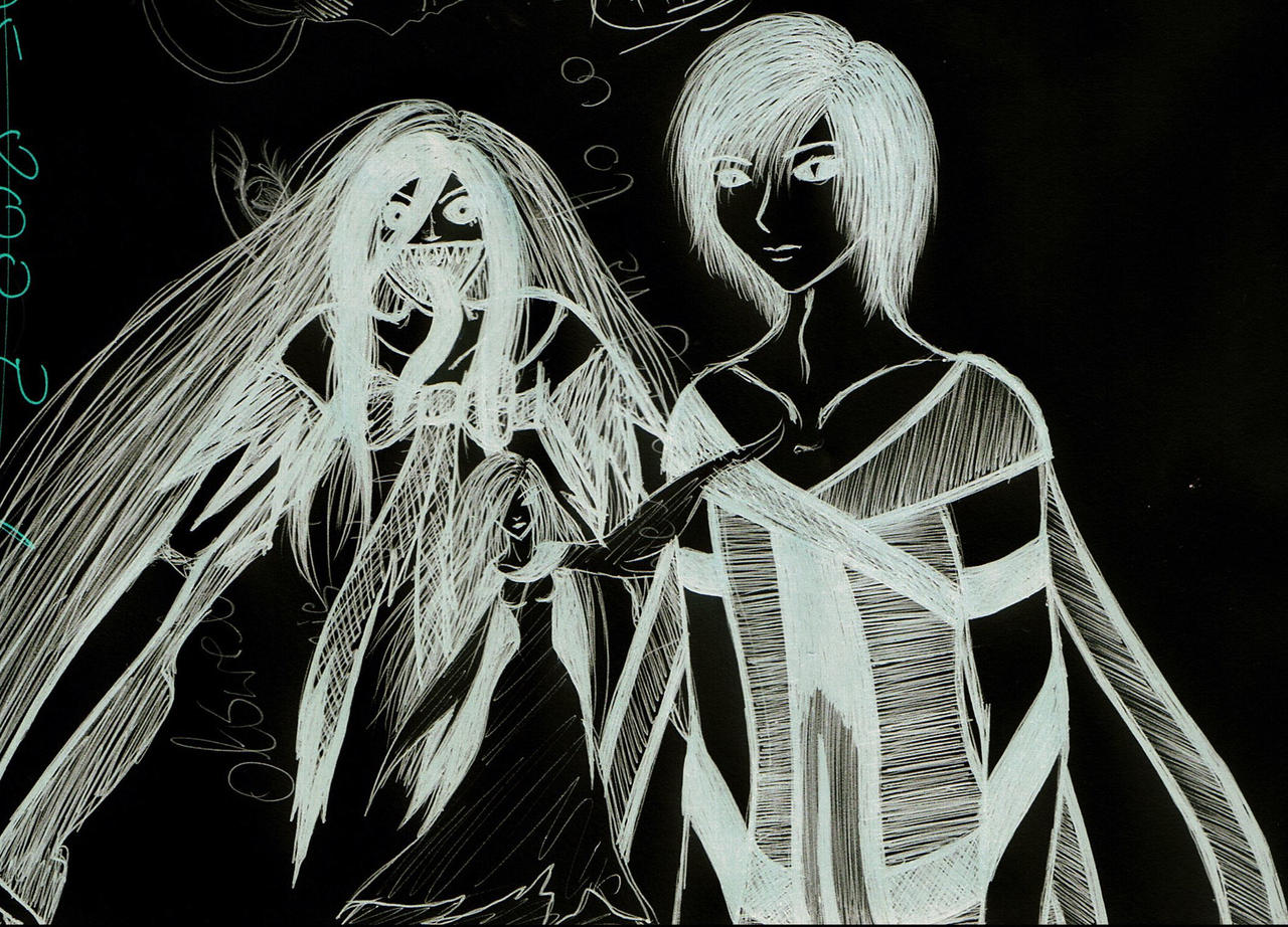 Ereina and sketch by KedavraAvada