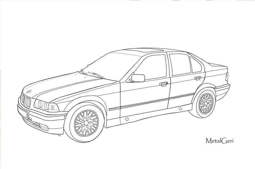 BMW E36 Vector Draw by