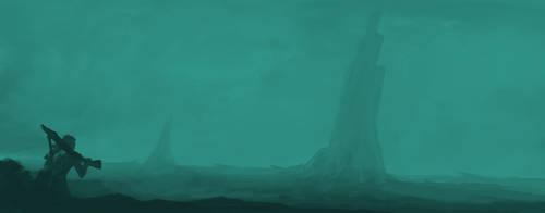 Sci Fi Landscape by gordon131