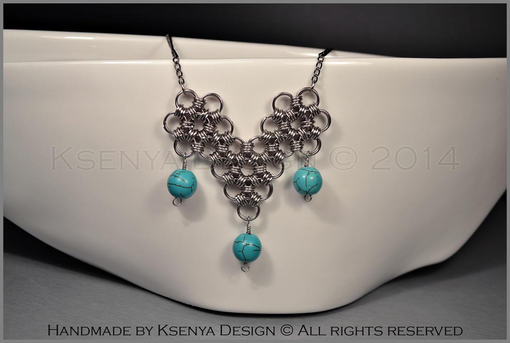 Howlite Necklace by KsenyaDesign