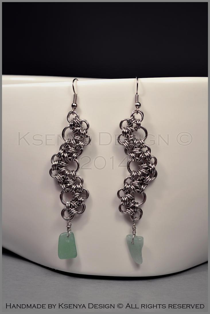 Jade Earrings by KsenyaDesign