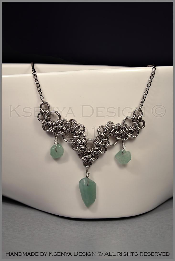 Jade Necklace by KsenyaDesign