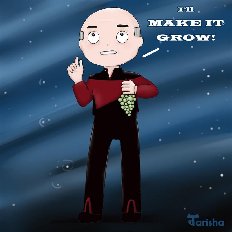 Star Trek: Picard With Grapes by Tarisha