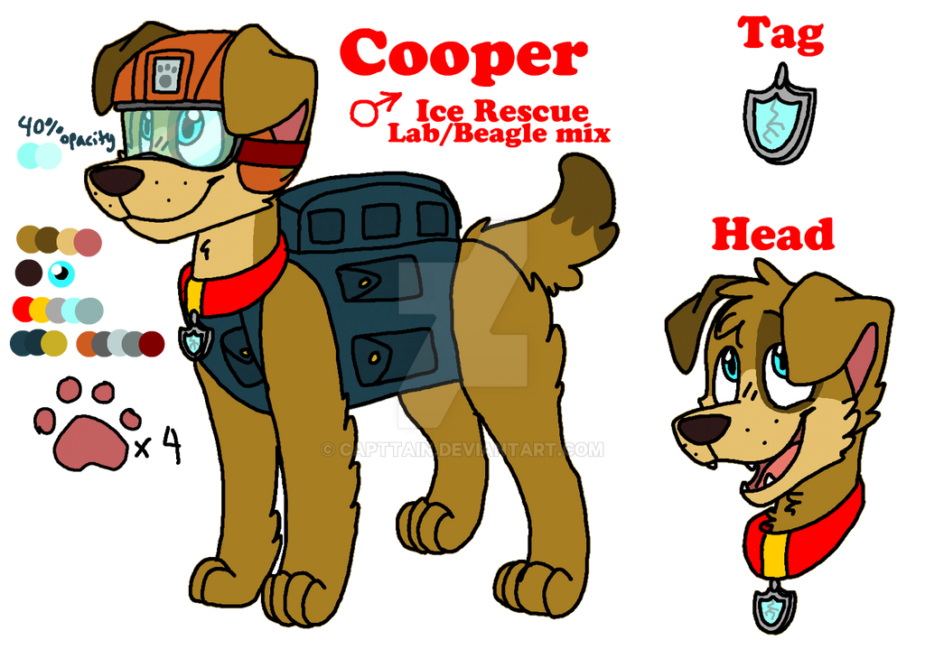 Paw Patrol Cooper ref *NOW HAS A BIO* by capttain