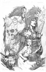 Veil of Night cover finished Pencils