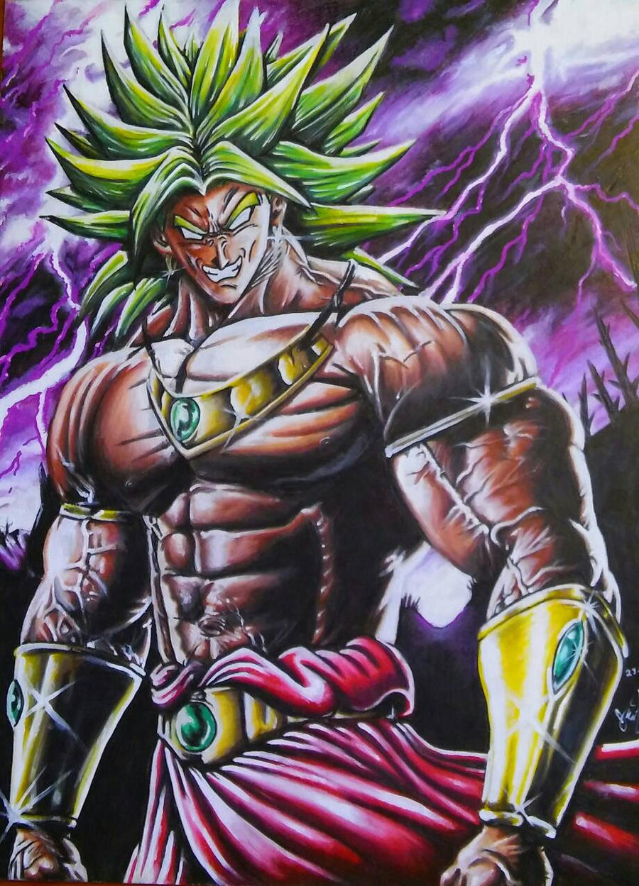 Broly, the legendary super sayan by JPKegle