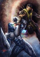 Scorpion vs Glacius by JPKegle
