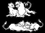 Lion Couples lineart
