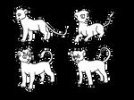 4 little cubs lineart