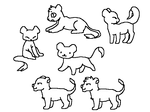 Mini lions lineart