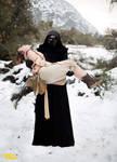 Kylo Ren holding Rey