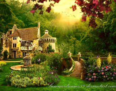 ..:The Secret Garden:.. by SummerDreams-Art