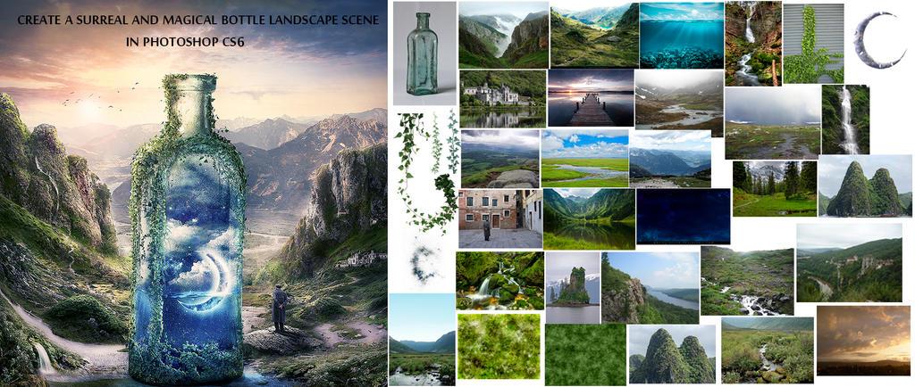 Tutorial:- Create a surreal dream bottle landscape by SummerDreams-Art