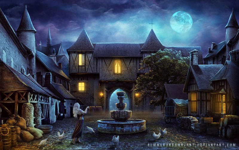 The Medieval Town by SummerDreams-Art