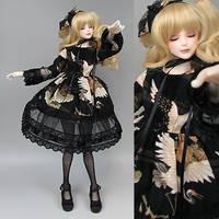 Wa gothic The black dress of a crane by RMLBJD